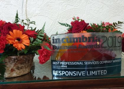 Winners of the 2019 Best Professional Service Company at In-Cumbria Awards