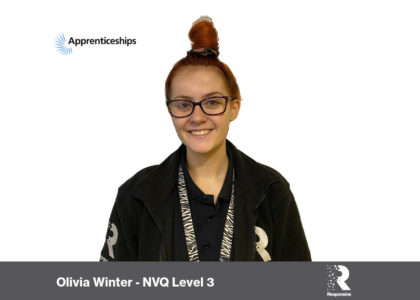 Employee Spotlight – Olivia Winter– National Apprenticeship Week 2020